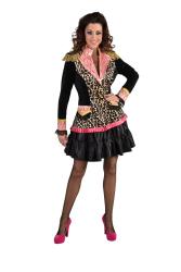 Carnavalsjas voor Dames Panterprint - zwart/roze