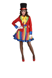 Damesjurk Clown - strepen - multi kleur