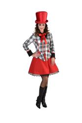 Dames Jurk Clown - geruit - zwart/wit