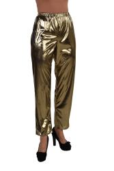 Metallic Folie Damesbroek - goud