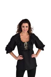 Luxe Blouse voor Dames - zwart