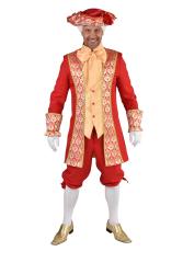 Herenkostuum Markies Royal Red - rood/goud
