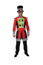 Kaartspeler Casino Kostuum voor Heren - rood/zwart