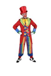 Clown Kostuum voor Heren Blok en Streep