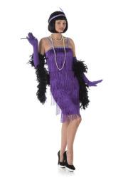 Charleston paarse flapper jurk