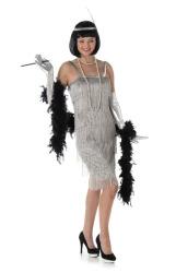 Charleston zilveren flapper jurk