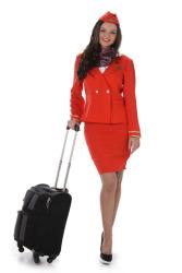 Kostuum stewardess rood