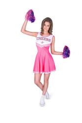 Cheerleader kostuum voor dames roze