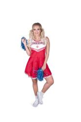 Cheerleader kostuum voor dames rood
