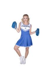 Cheerleader kostuum voor dames blauw
