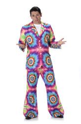Neon kleurstof jaren 70 pak voor heren