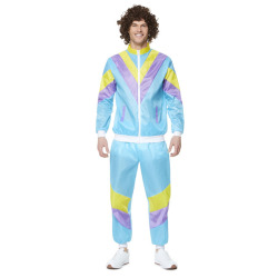 Trainingspak ''Shell Suit'' - blauw/paars/geel