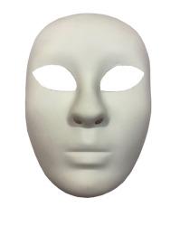 White Face Masker pvc