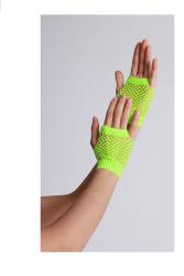 Vingerloze handschoenen kort visnet Neon Geel