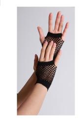 Vingerloze handschoenen kort visnet Zwart