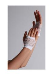 Vingerloze handschoenen kort visnet Wit