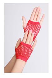 Vingerloze handschoenen kort visnet Rood