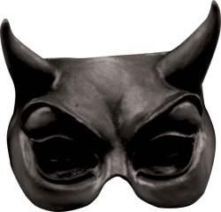 Half Masker Devil Zwart