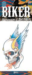 Biker Tattoo - Gevleugelde Schedel