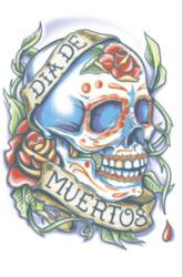 Day Of The Dead Tattoo - La Rosa