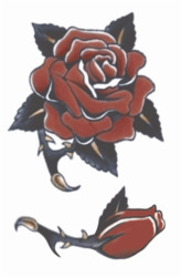 Vintage Tattoos - Rose 1940