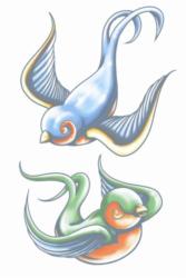 Vintage Tattoos - Zwaluwen