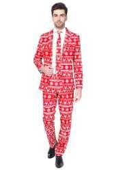 Christmas Red Nordic Heren Kostuum