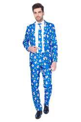 Christmas Blue Snowman Heren Kostuum