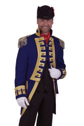 Carnavalsjas ''Nelson'' Deluxe Marineblauw