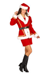 Kerstmeisje deluxe ''Nathalia'', Rood