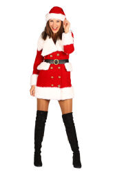 Kerstmeisje fluweel deluxe ''Nieve'', Ro