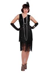 Charleston jurk ''Fox'', Zwart