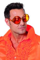 Bril grote ronde glazen - oranje