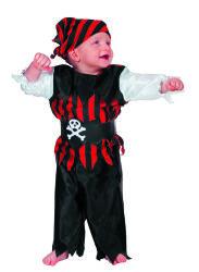 Babykostuum Piraat - zwart/rood
