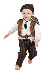 Babykostuum Piraat - bruin/zwart