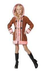 Eskimo Kostuum voor meisjes - bruin/roze