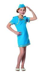 Stewardess Kostuum voor Meisjes - blauw