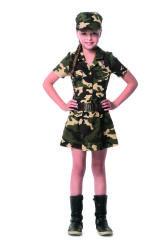 Militair Kostuum voor Meisjes - camouflage