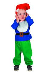 Babykostuum Kabouter - blauw/groen