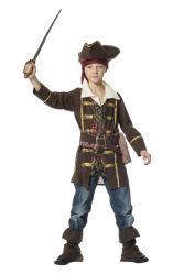 Kinderkostuum Piraat - bruin