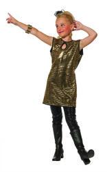 Jurk met Pailletten voor Meisjes - goud