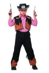 Kinderkostuum Cowboy Nick - zwart/bruin