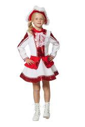 Kinderkostuum Dansmarieke - rood/wit