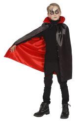 Dracula Cape met Kraag - zwart/rood