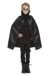 Dracula Cape met kraag - zwart