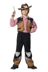 Kinderkostuum Cowboy Buffalo - zwart/bruin