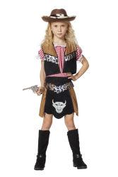 Kinderkostuum Cowgirl Buffalo - zwart/bruin