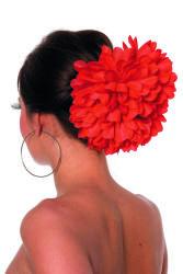 Haarclip Bloem - rood