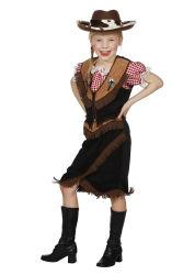 Kinderkostuum Cowgirl Oakley - zwart/bruin