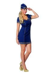 Stewardess Jurk voor Dames - marineblauw
